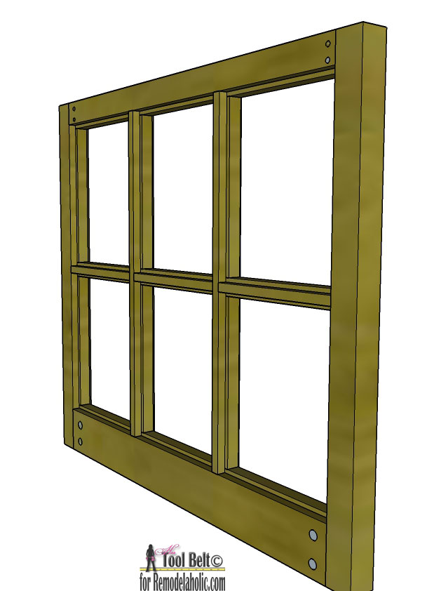 Remodelaholic | Build It: 6-Pane Decorative Window