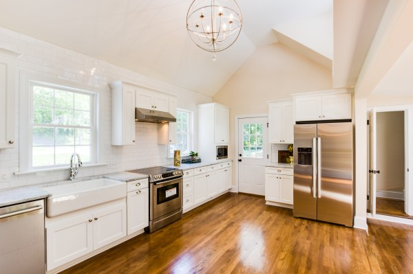 7 renovated kitchen with wood floors and white subway tile, Cobblestone DG on Remodelaholic