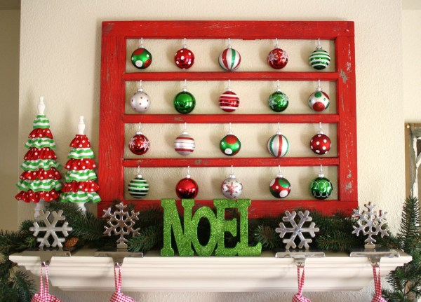 A Diamond in the Stuff - old paned window to christmas ornament or collectible display - via Remodelaholic