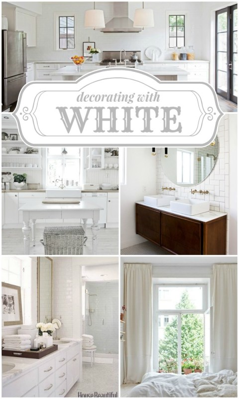 Decorating with White on Remodelaholic.com #colorfiles #white #inspiration