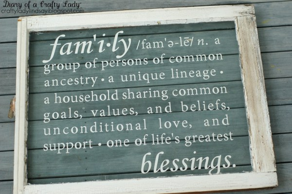 Diary of a Crafty Lady - vinyl decal on old window - via Remodelaholic