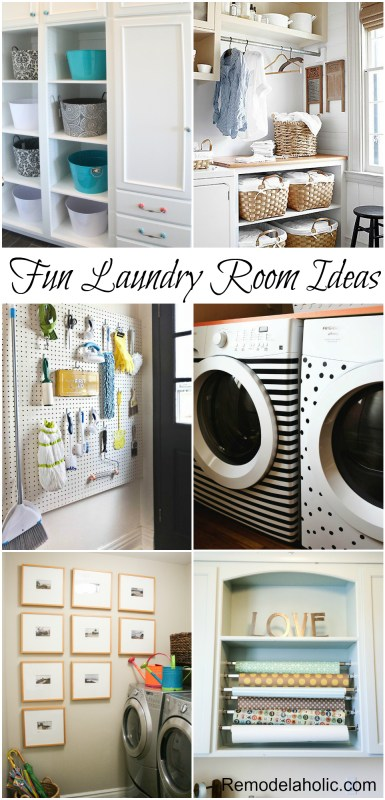 Fun Laundry Room Details to add to your wash room! #laundry #design #details @remodelaholic