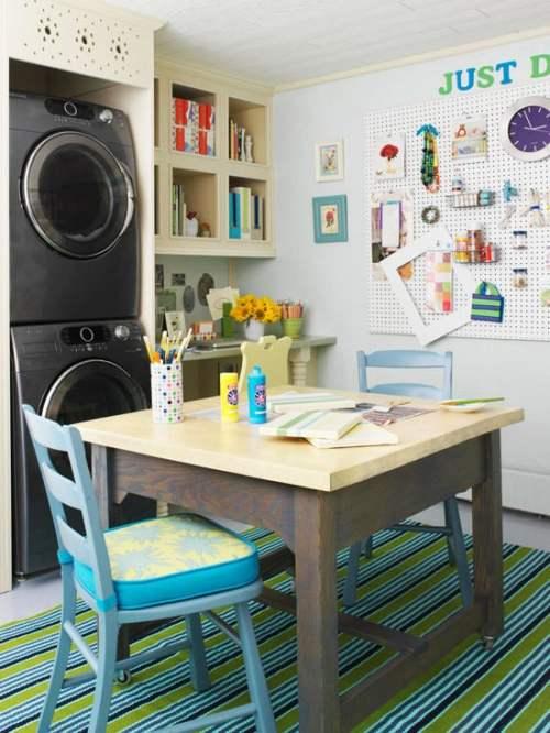 Hobby room and laundry room