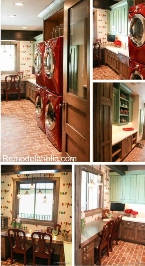 Large Crafting and Laundry room Fabulous Laundry room design ideas from @Remodelaholic (7 of 103)