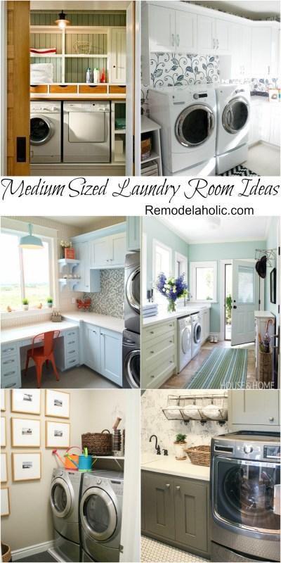 Medium Sized Laundry Room Ideas @remodelaholic #laundry