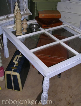 Robo Margo - coffee table from old window - via Remodelaholic