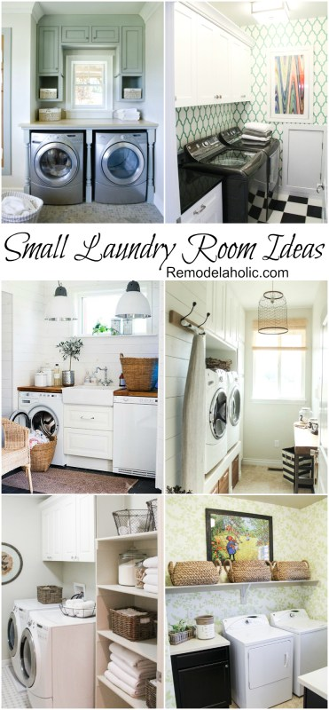 Small but stylish Laundry Room Ideas @remodelaholic #laundry #design #small