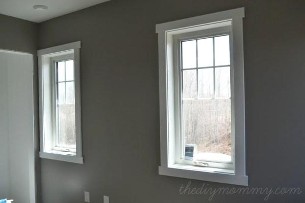 The DIY Mommy super simple craftsman window trim tutorial via Remodelaholic