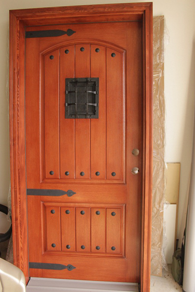 Curb appeal ideas: Tuscan front door makeover from Remodelaholic