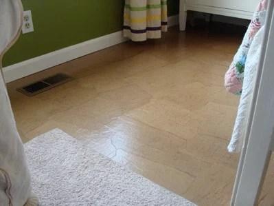 brown paper floor diy tutorial