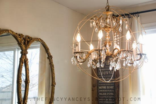 Remodelaholic diy crystal orb chandelier knockoff how to make a restoration hardware crystal orb chandelier vintage romance style featured on remodelaholic aloadofball Image collections