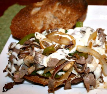 Healthy Philly Cheesesteak Sandwiches