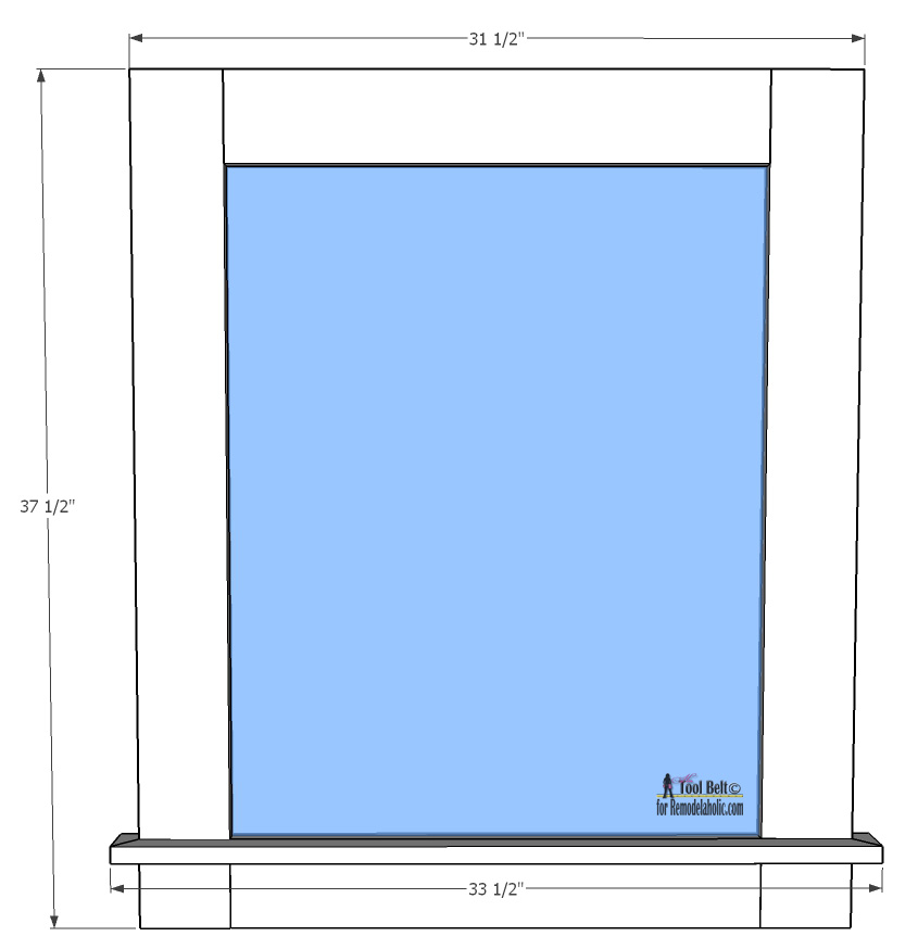 Remodelaholic | Glass Wall-Mounted Dry Erase Message Board Plan