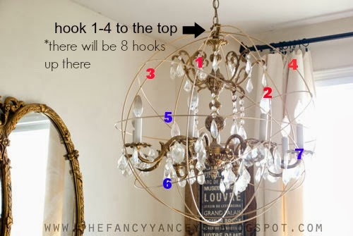 how to create a crystal orb chandelier like Restoration Hardware step 4, Vintage Romance Style featured on Remodelaholic