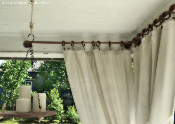 industrial curtain rod from pvc Our Vintage Home Love via Remodelaholic