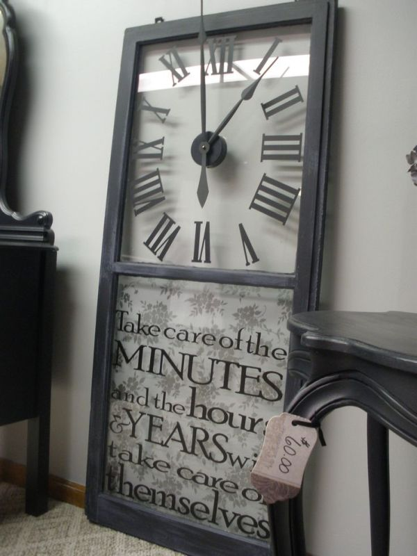 old window into clock