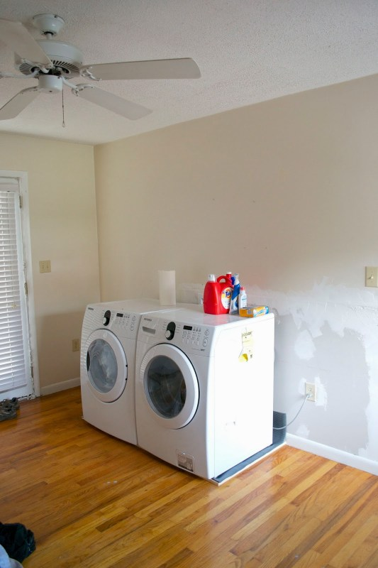 washer and dryer in new place, Seesaws and Sawhorses on Remodelaholic