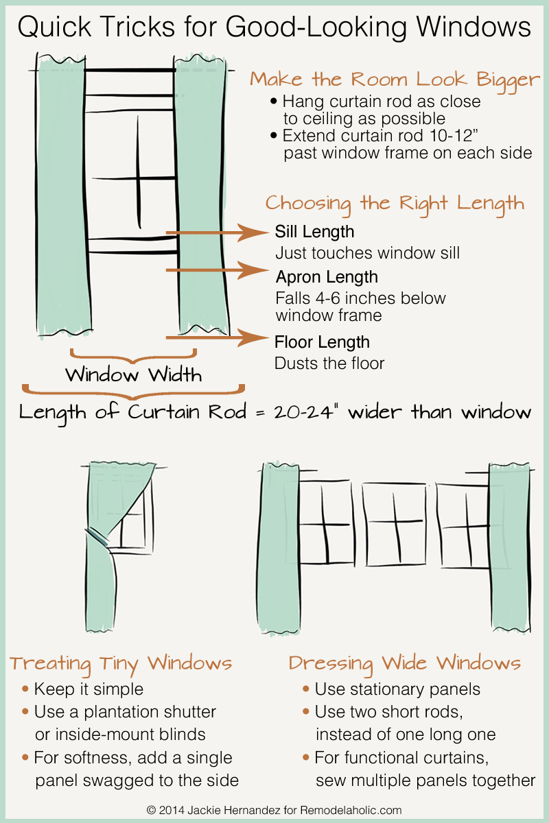 Remodelaholic Universal Tricks For Good Looking Curtain Panels