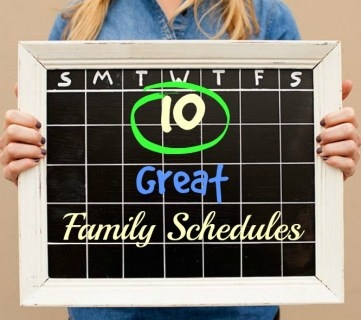 10 Great Family Schedules - Tipsaholic