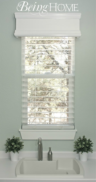 Being Home - build a window cornice via @Remodelaholic