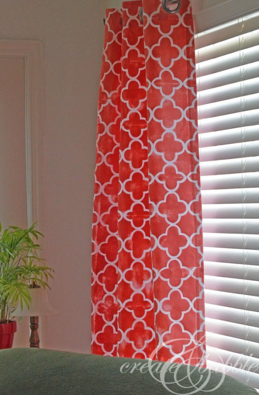 Create and Babble - diy stencil and painted curtains via @Remodelaholic