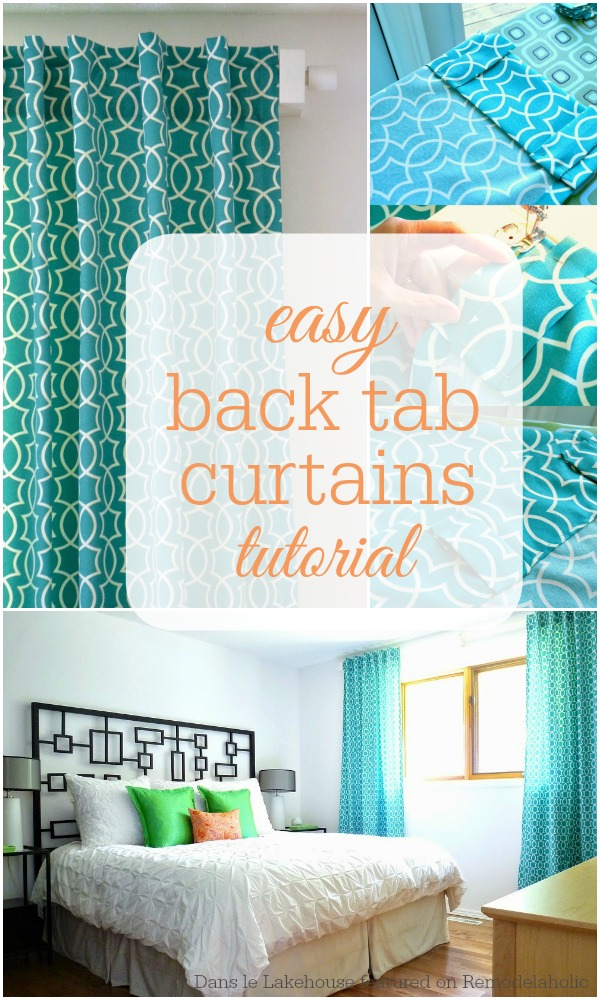 Easy Back Tab Curtain Tutorial From Dans Le Lakehouse On @Remodelaholic # Drapes #sewing