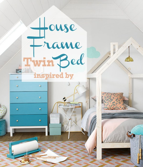 House frame twin bed