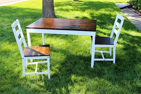 IKEA hack farmhouse table, Two Feet First