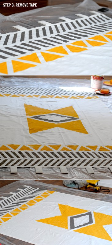 Love Creative - geometric native inspired curtains - via Remodelaholic