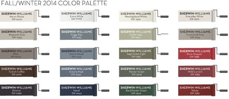 Pottery Barn 2014 fall paint color collection. Remodelaholic
