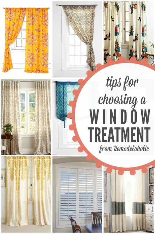 Tips for Choosing a Window Treatment Remodelaholic