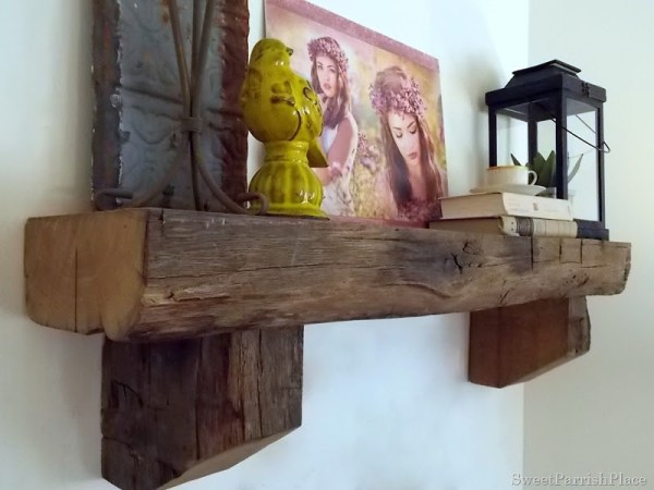 barn beam mantel, Sweet Parrish Place