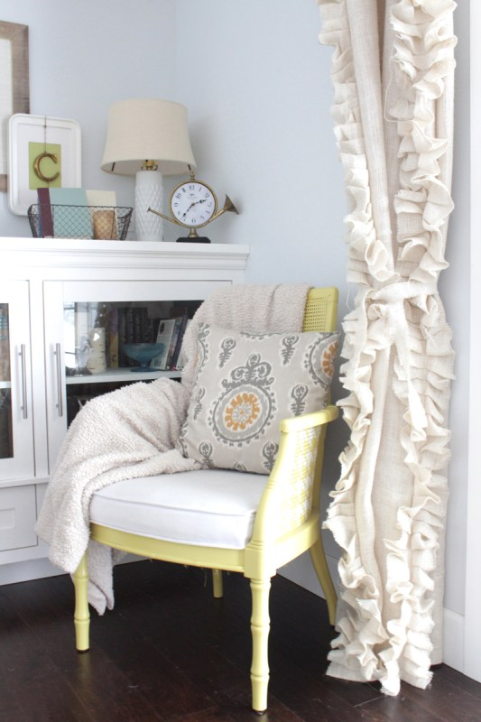 burlap curtains tutorial, The Caldwell Project on Remodelaholic