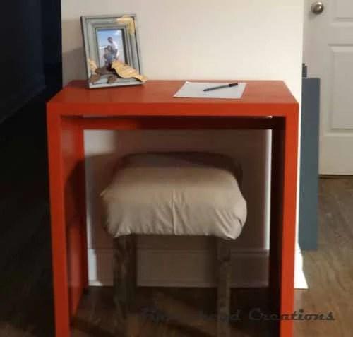 easy square desk building plan, Zipperhead Creations
