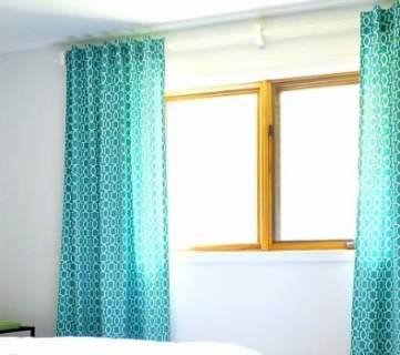 Simple Sewn Back Tab Curtains
