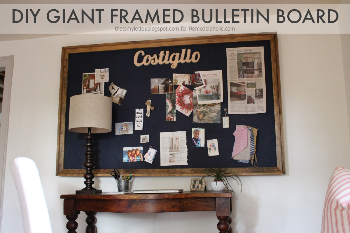 Remodelaholic Build A Giant Bulletin Board For Under 50
