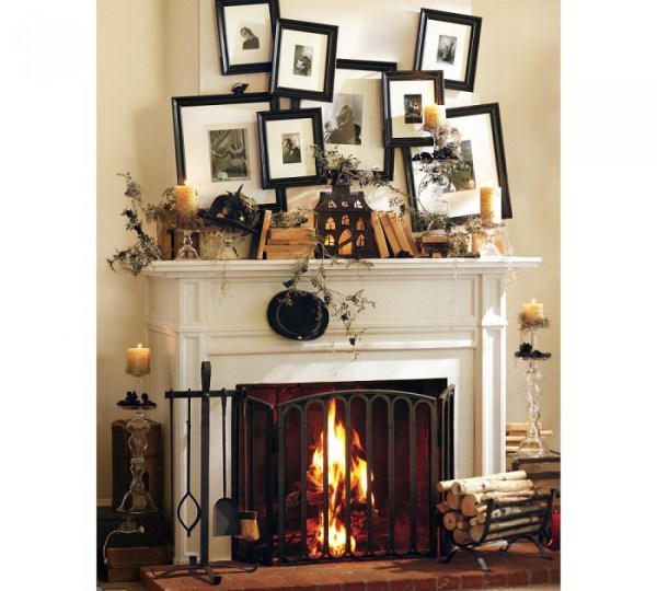 Halloween Mantelscape by Pottery Barn