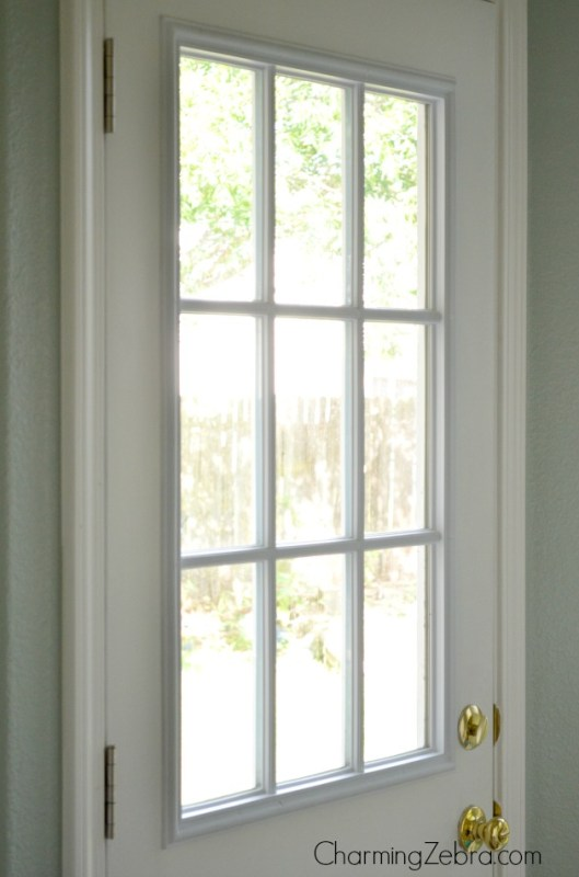 how to cover a door window, Charming Zebra on Remodelaholic