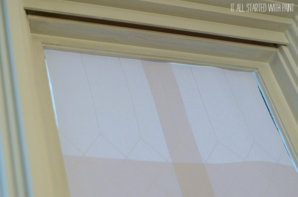 how to transfer a pattern to a window for faux leaded glass, It All Started With Paint on Remodelaholic