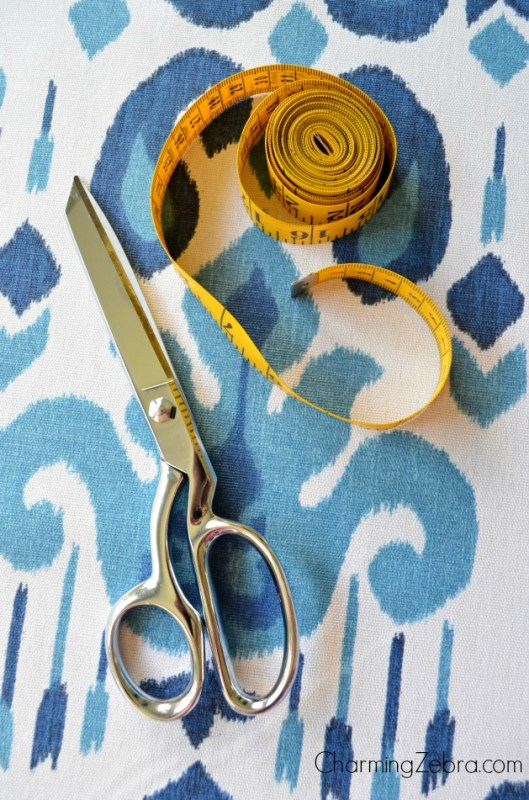 no sew window blind for a door, Charming Zebra on Remodelaholic