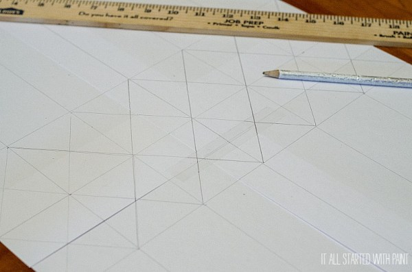 planning out a faux leaded glass window pattern, It All Started With Paint on Remodelaholic
