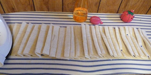 pleated ruffled burlap curtain tutorial, The Caldwell Project on Remodelaholic