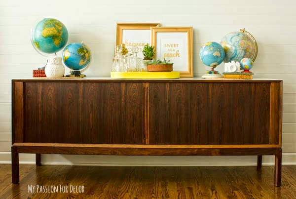 restored wood midcentury console, My Passion for Decor