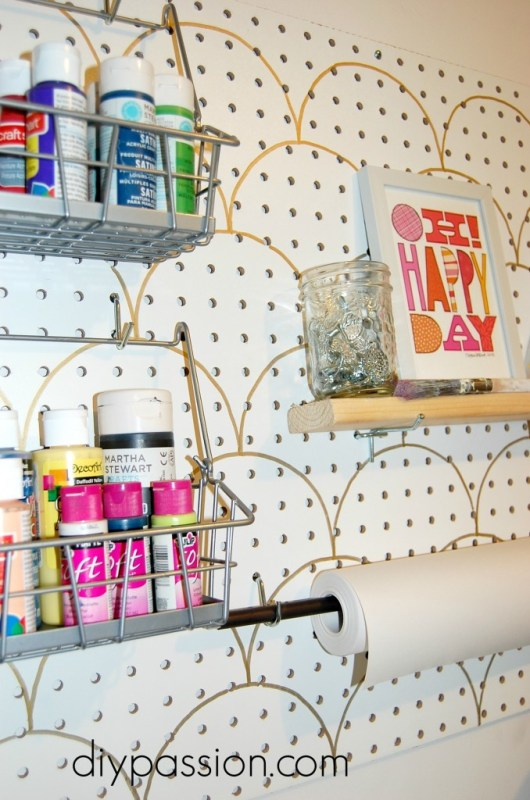 stencilled peg board, DIY Passion