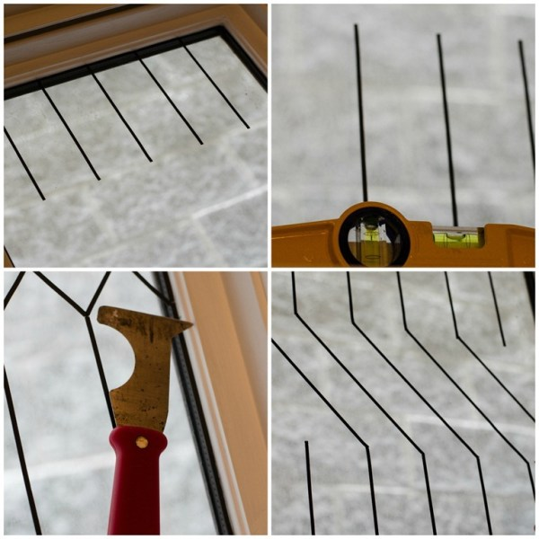 use leading strips in a faux leaded glass window, It All Started With Paint on Remodelaholic