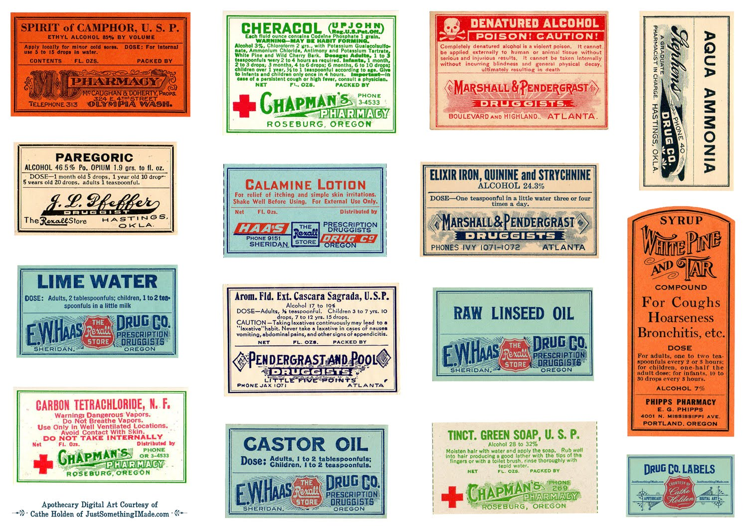 photograph relating to Free Printable Vintage Apothecary Labels titled Remodelaholic 15 No cost \