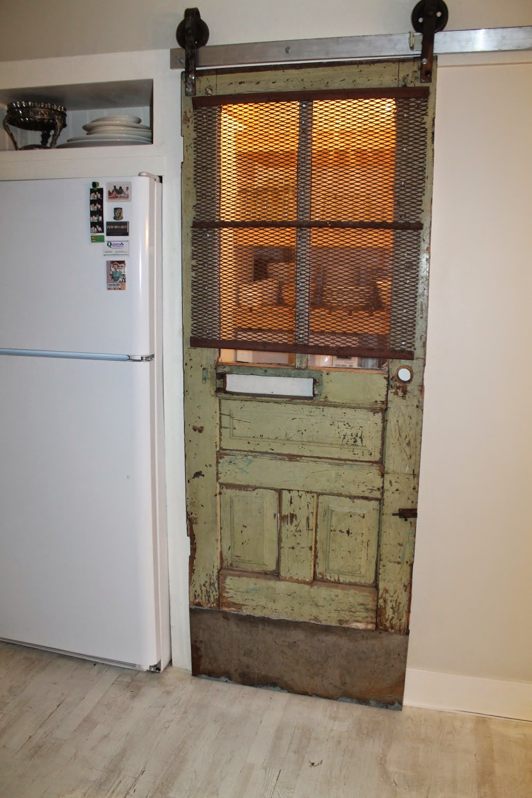 Ordinaire Vintage Pantry Barn Door With Screen And Automatic Light, Girl Meets  Carpenter On @Remodelaholic