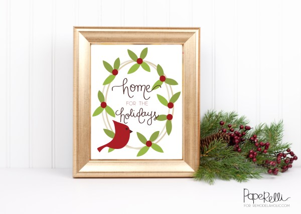 Christmas Printable by Paperelli for Remodelaholic