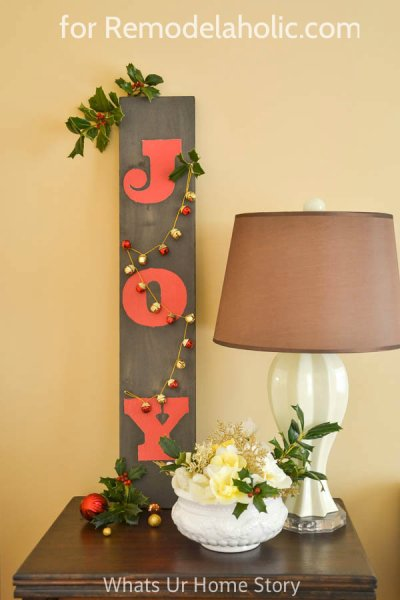 Driftwood JOY sign @Remodelaholic
