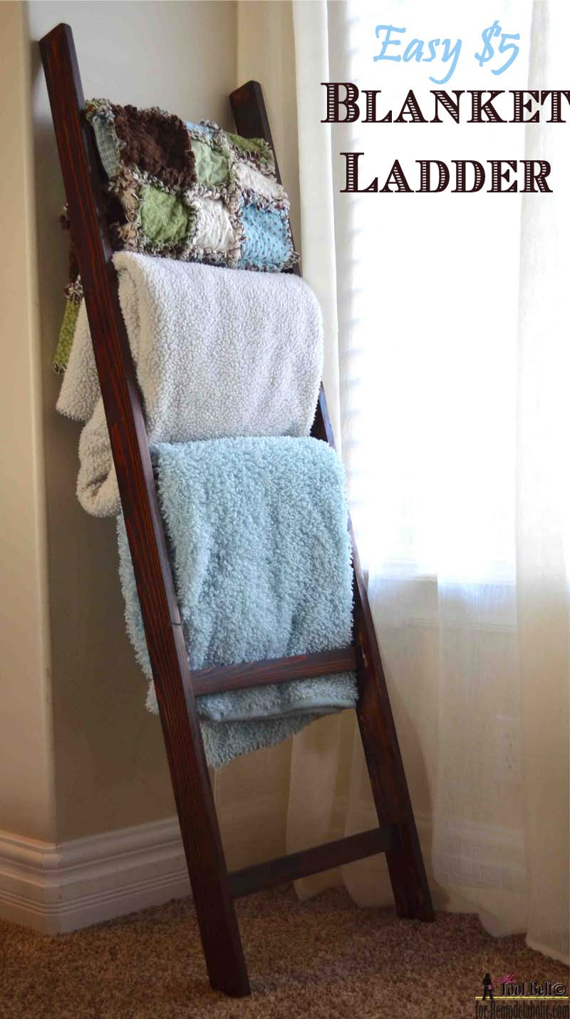 Remodelaholic Build An Easy Blanket Ladder For Just 5